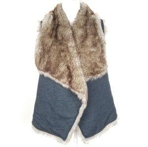 Sweaters - Reversible faux fur sweater vest one size